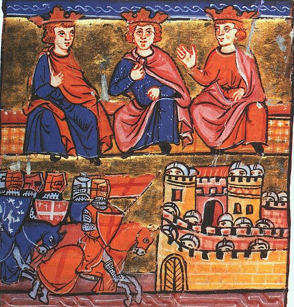 Conseil de la deusieme Croiserie - Conrad III, Louis VII, Bauldoin III